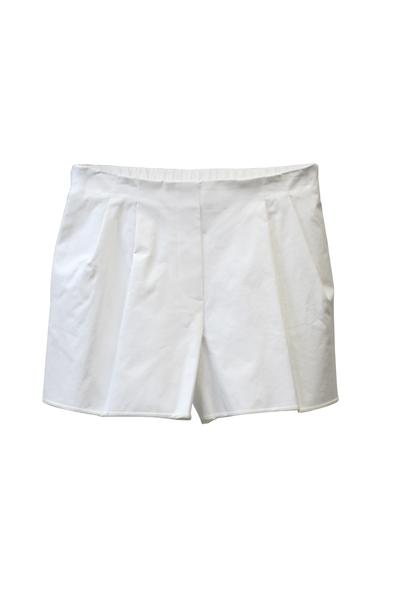 3.1 PHILLIP LIM 裾シルクパイピングコットンタックショートパンツ