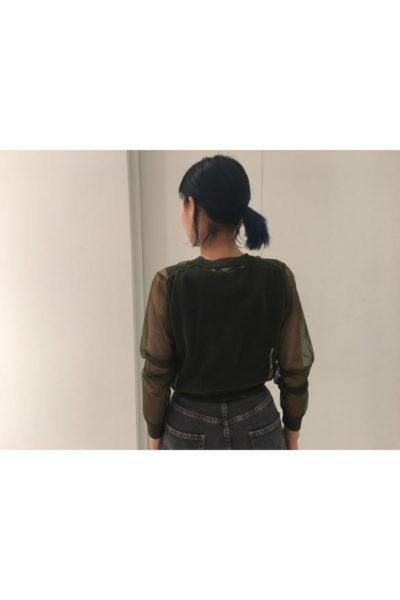 JOHN LAWRENCE SULLIVAN ナイロンシアーショート丈カーディガン【18SS】