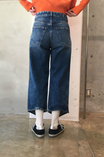 MM6 MAISON MARGIELA 変形裾ワイドデニム【18SS】