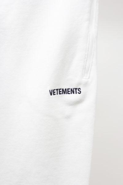 VETEMENTS フロントロゴスウェットパンツ