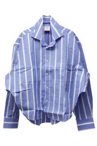 VETEMENTS ストライプFOLD-UPシャツ【18SS】