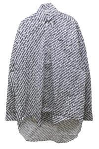 VETEMENTS モノグラムオーバーサイズシャツ【18SS】