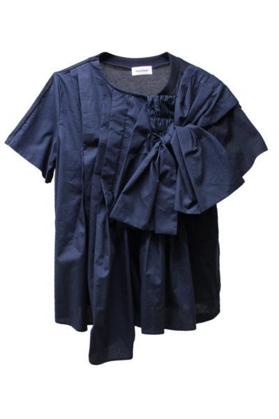 Chika Kisada 【30%OFF】異素材タックレイヤード半袖トップス【18SS】
