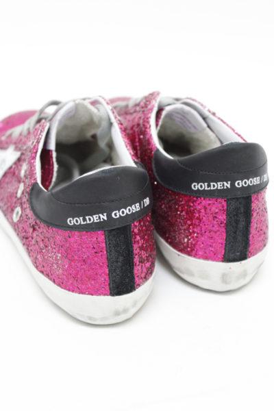 GOLDEN GOOSE DELUXE BRAND ピンクグリッターローカットスニーカー(SUPER STAR/CYCLAMINE GLITTER-SILVER  STAR)
