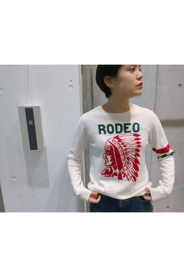 QUEENE and BELLE RODEOインディアンニット