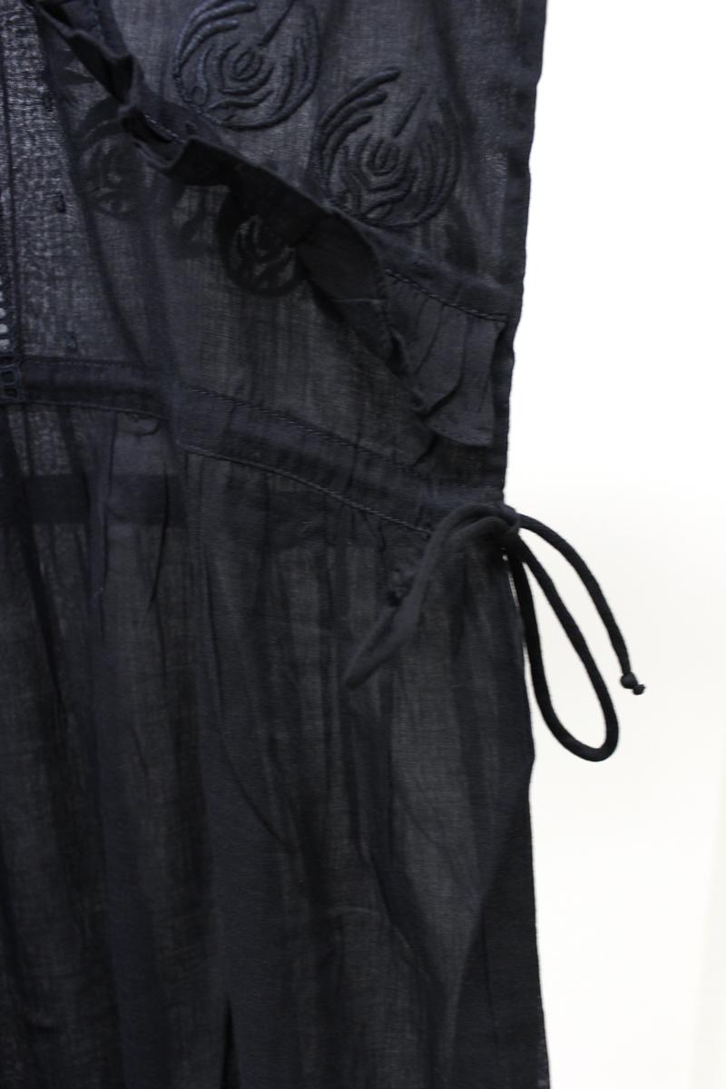 QUEENE and BELLE .【40%OFF 】刺繍レース×フリル7分袖ロングワンピース