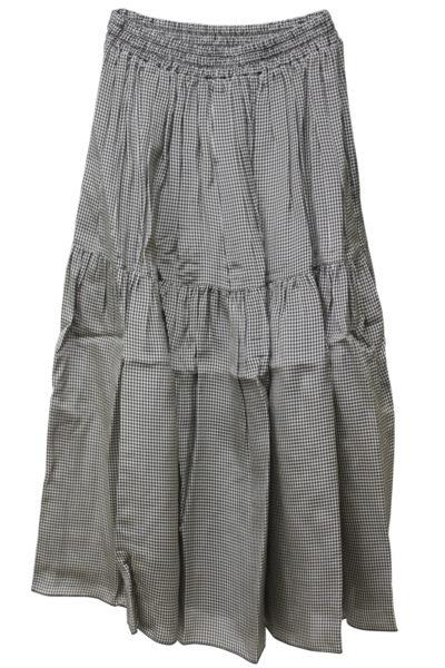 SARA LANZI 【TIME SALE - 70%OFF】ビスコースギャザーロングスカート【18SS】