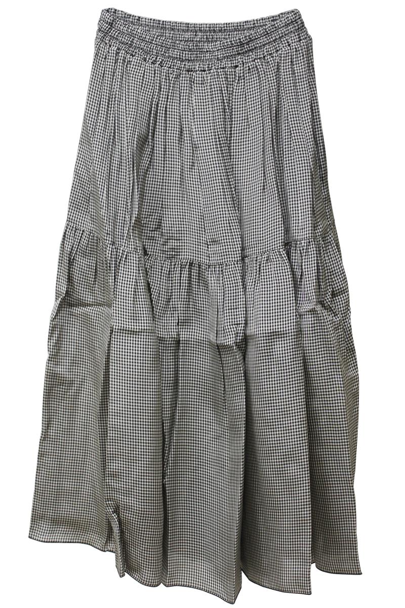 SARA LANZI ビスコースギャザーロングスカート【18SS】