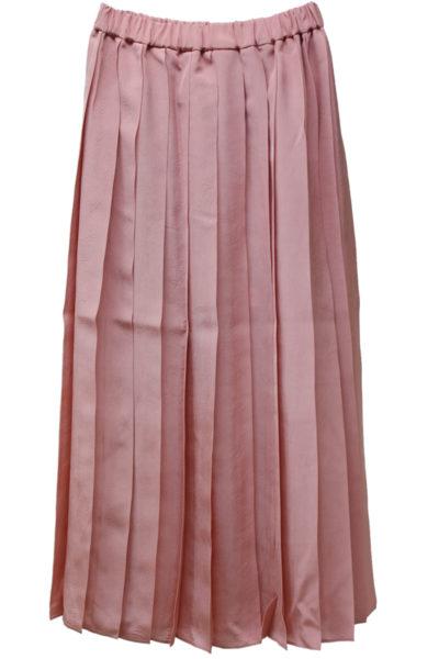 SARA LANZI ビスコースプリーツロングスカート【18SS】