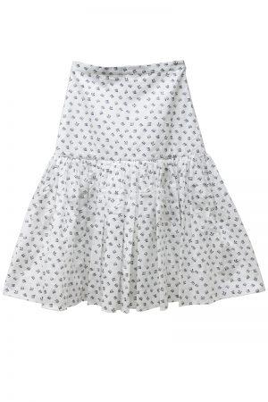 SARA LANZI 【40%OFF】総柄ハイウエストギャザースカート
