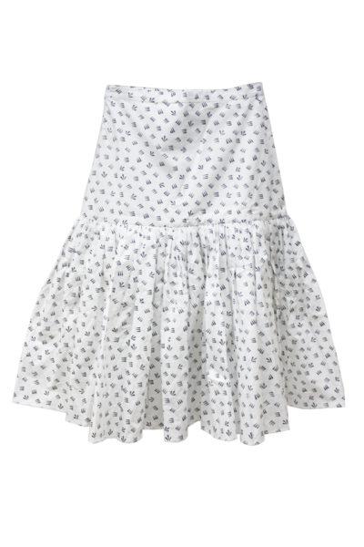 SARA LANZI 総柄ハイウエストギャザースカート【18SS】