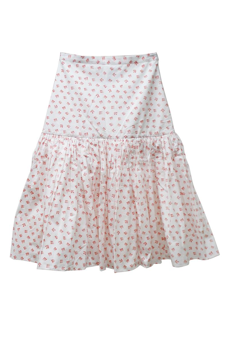 SARA LANZI 【50%OFF】総柄ハイウエストギャザースカート