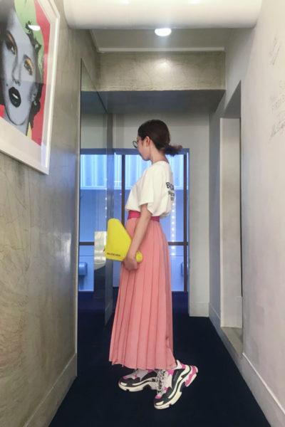 SARA LANZI 【40%OFF】ビスコースプリーツロングスカート