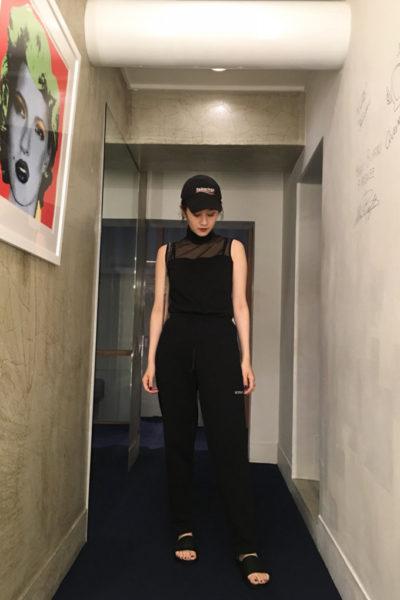 JOHN LAWRENCE SULLIVAN 【50%OFF】メッシュ切替ハイネックノースリーブ【18SS】