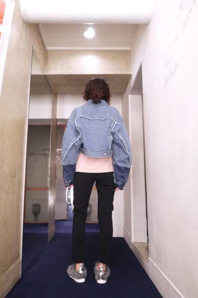 Acne Studios 【30%OFF】袖ウォッシュ切替ショート丈Gジャン