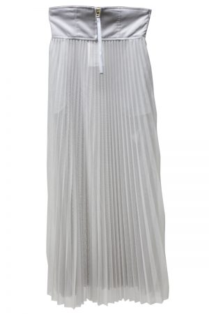 CLEANA 【40%OFF】メッシュ×チュールプリーツロングスカート