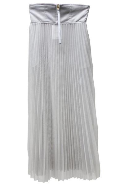 CLEANA 【50%OFF】メッシュ×チュールプリーツロングスカート 【18SS】