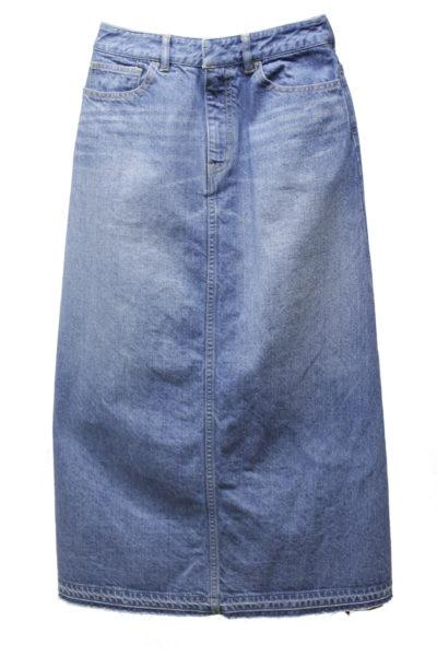 CLEANA 【40%OFF】デニムバックレイヤードロングスカート