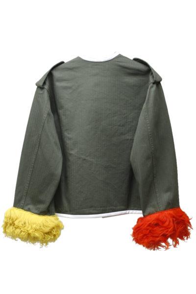 HARVEY FAIRCLOTH 【50%OFF】裾ファーノーカラージャケット【18SS】
