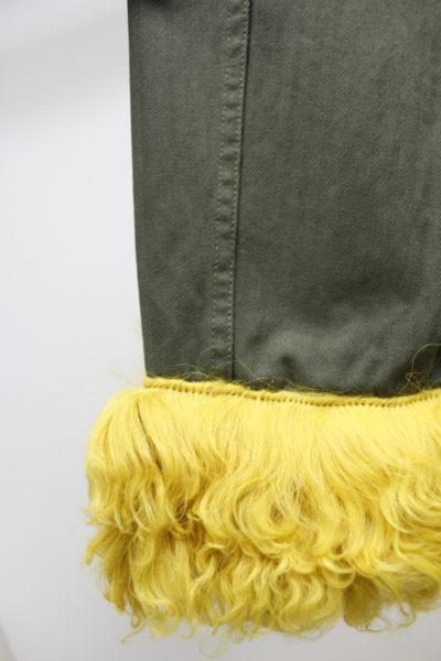 HARVEY FAIRCLOTH 裾ファーノーカラージャケット【18SS】