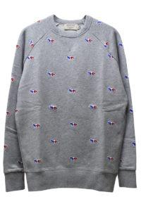 MAISON KITSUNÉ 【50%OFF】トリコロールFOX刺繍スウェットトップス【18SS】