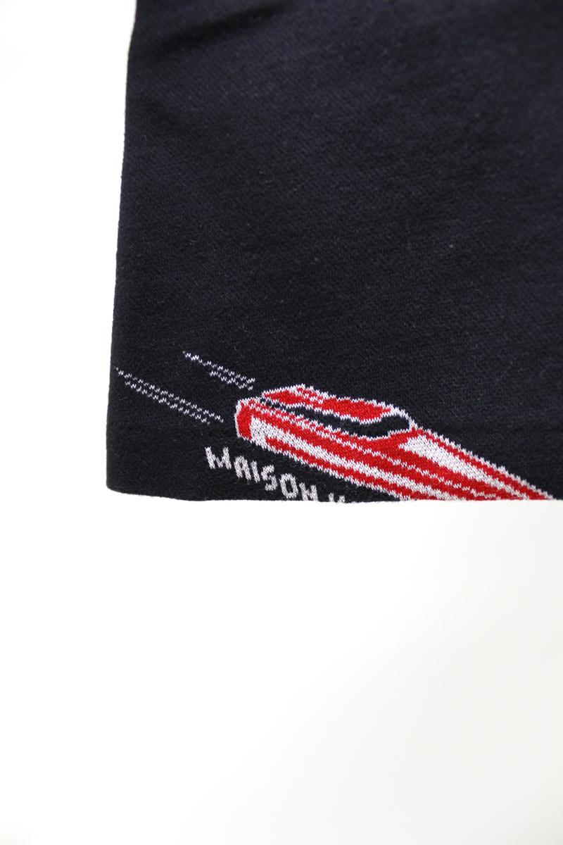 MAISON KITSUNÉ スピードボートジャガードフロントZIPミニスカート