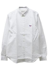 MAISON KITSUNÉ FOXトリコロールワンポイントシャツ【18SS】