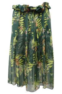 kolor 【40%OFF】シフォン植物柄レイヤードロングスカート