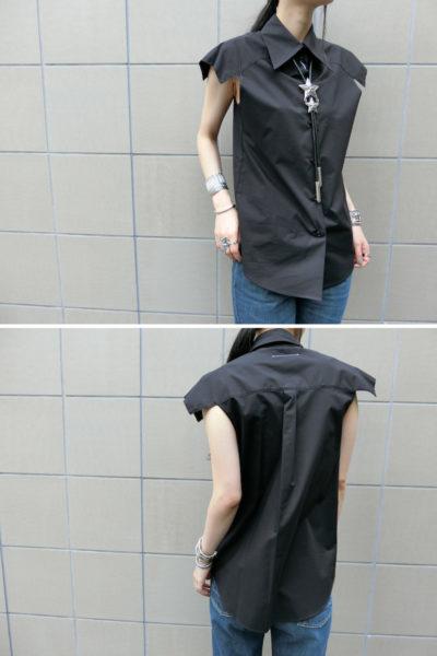 MM6 MAISON MARGIELA 変形アームノースリーブシャツ