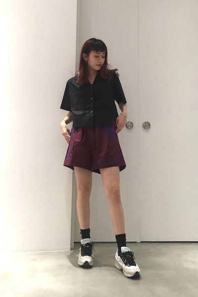 Acne Studios 【V】ウエストリボン刺繍ショートパンツ [18SS]