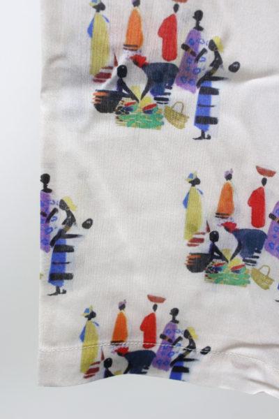 MAISON Olga アフリカ柄フレアーロングスカート