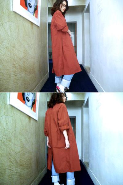 STAND ALONE 【 50%OFF】コットンオーバーサイズステンカラーコート【18SS】