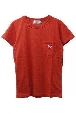 MAISON KITSUNÉ トリコロールFOXワンポイントTシャツ
