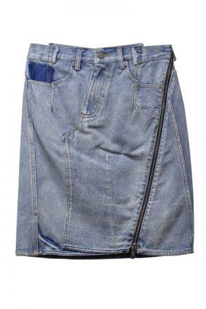 3.1 PHILLIP LIM 【40%OFF】デニムバイアスZIP膝丈スカート