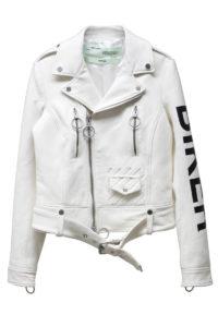 OFF-WHITE ラムレザーバイカージャケット【18SS】