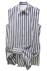 VICTORIA VICTORIA BECKHAM 【40%OFF】ストライプ裾デザインノースリーブシャツ