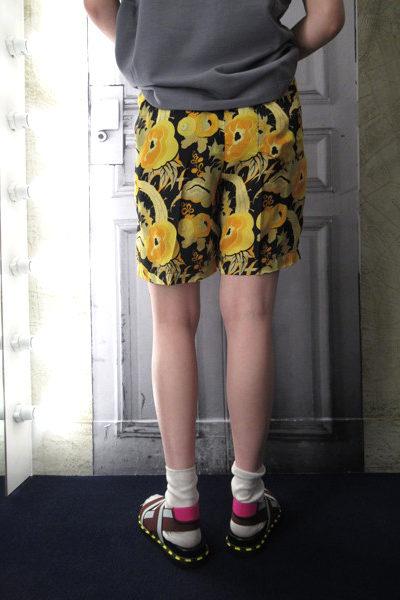 DRIES VAN NOTEN 【V】【  30%OFF】フラワープリントショートパンツ [18SS]