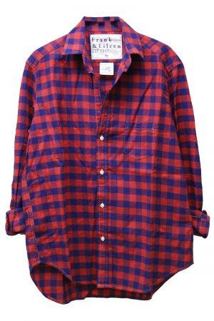 FRANK & EILEEN コットンブロックチェックシャツ【18SS】