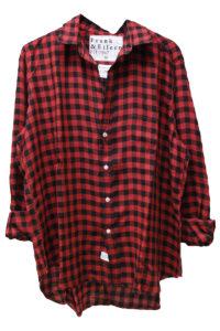 FRANK & EILEEN レーヨンギンガムチェックシャツ【18SS】