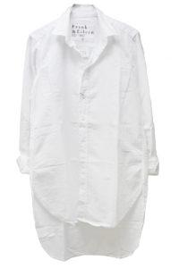 FRANK & EILEEN コットンロングシャツ【18SS】