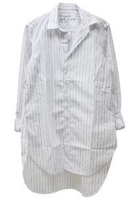 FRANK & EILEEN 【40%OFF】コットンランダムストライプロングシャツ