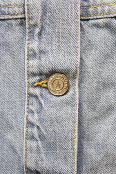GOLDEN GOOSE DELUXE BRAND バックフラワープリントフレアーデニムジャケット