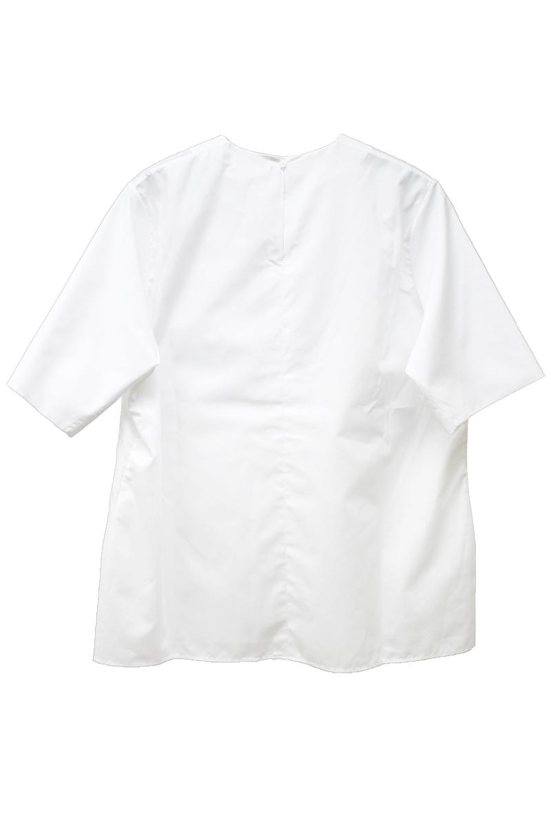 IN-GRID ノーカラー半袖ブラウス