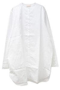 IN-GRID 【50%OFF】ノーカラーオーバーサイズロングシャツ【18SS】