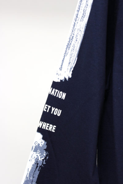 GOLDEN GOOSE DELUXE BRAND メッセージプリントボトルネック長袖Tシャツ 【18AW】