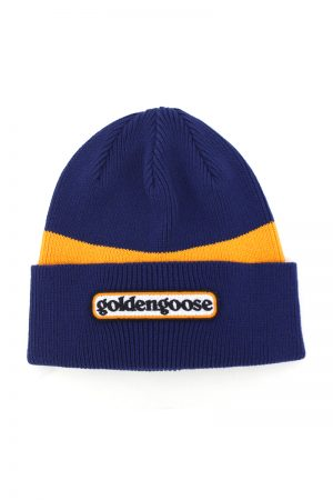 GOLDEN GOOSE DELUXE BRAND ロゴパッチニットキャップ(NAVY)【18AW】