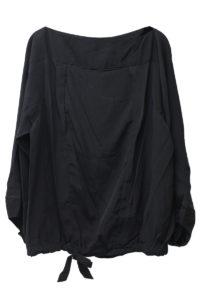 ISABEL MARANT ETOILE キュプラ裾絞りボートネックブラウス【18AW】
