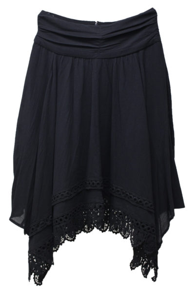 ISABEL MARANT ETOILE コットン裾レースフレアースカート【18AW】