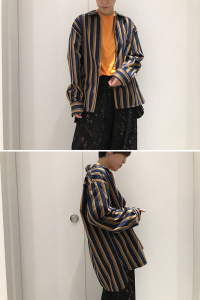 ISABEL MARANT コットンストライプオーバーシャツ【18AW】
