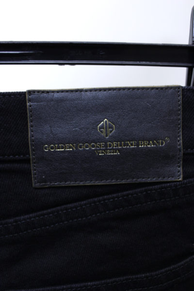 GOLDEN GOOSE DELUXE BRAND 【NEW YEAR SALE - 40%OFF (12/30〜)】ブラックデニムポケットコーティングパンツ【18AW】